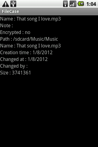 FileCase item