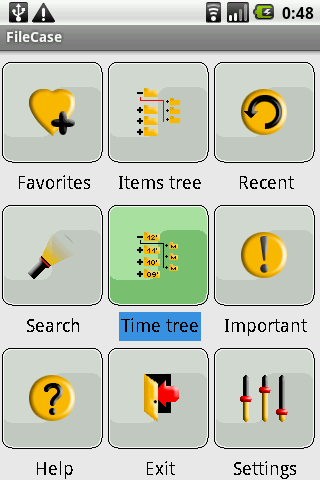 FileCase main panel