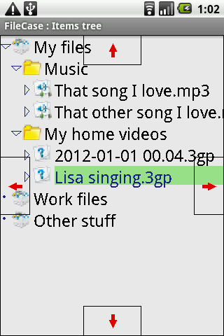 FileCase tree